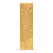 Seitenfaltenbeutel Gold mit Aromaschutzventil Base